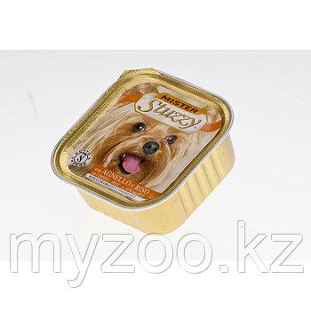 STUZZY MISTER DOG влажный корм для собак Паштет с настоящими кусочками мяса с Ягненком и Рисом 100 гр