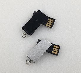 Флешка металлическая (мини твист) 2, 4, 8, 16, 32, 64 гб. Бесплатная доставка по РК.
