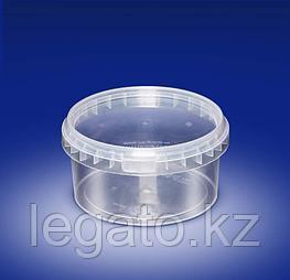 Ведро HTI 0,850 л. прозрачное 450 шт/кор крышка:10961