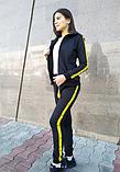 Женский черный спортивный костюм, фото 3