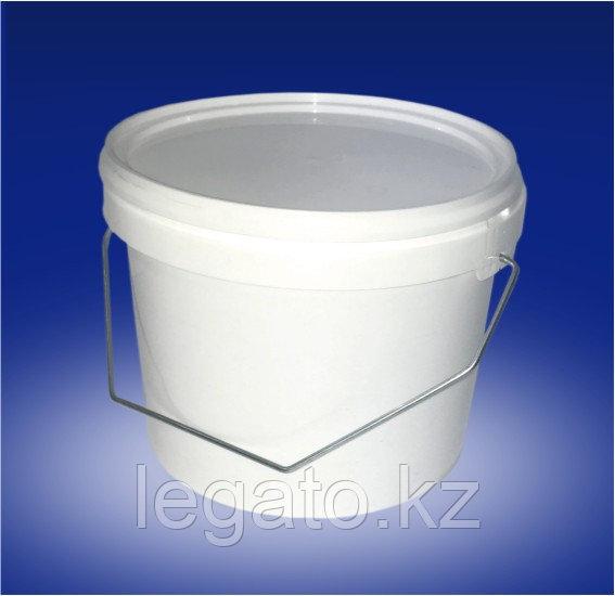 Ведро HTI 2,3 л ПластикPуч белое с белой крышкой ( КРЫШКА ОТДЕЛЬНО) 40 шт/упак крышка:11009