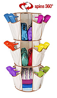 РАСПРОДАЖА Органайзер для обуви круглый 3х-ярусный