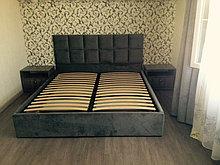 """Кровать """"Квадрик"""" с мягким изголовьем, 160 см. на  200 см."""