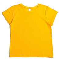 Футболка для девочки, цвет жёлтый, рост 140-146 см