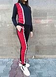 Женский красно-черный спортивный костюм, фото 2