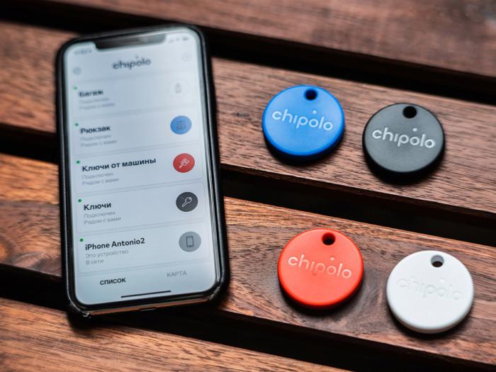 Умный брелок Chipolo ONE со сменной батарейкой (комплект из 4-х штук) - фото 1