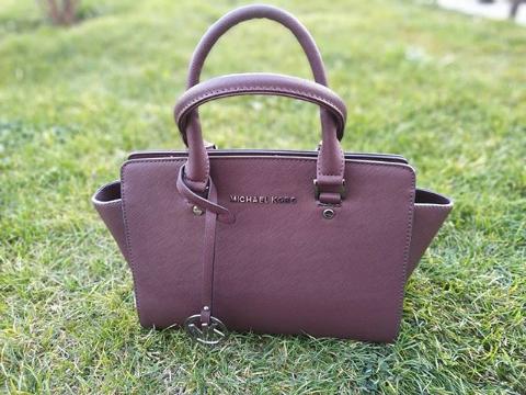 Женская сумка тоут коричневая Michael Kors