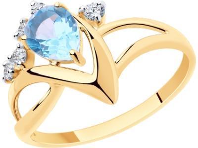 Золотое кольцо Diamant 51-310-00609-1_185