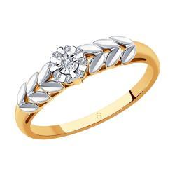 Золотое кольцо Diamant 51-210-00558-1_18