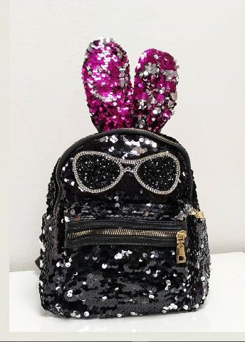 Детский рюкзак с пайетками с ушками
