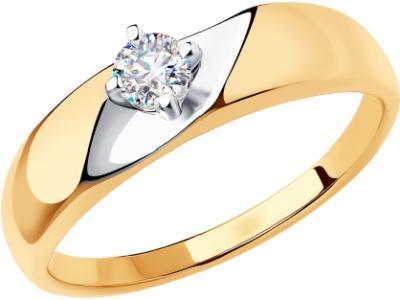 Золотое кольцо Diamant 51-110-00740-1_175
