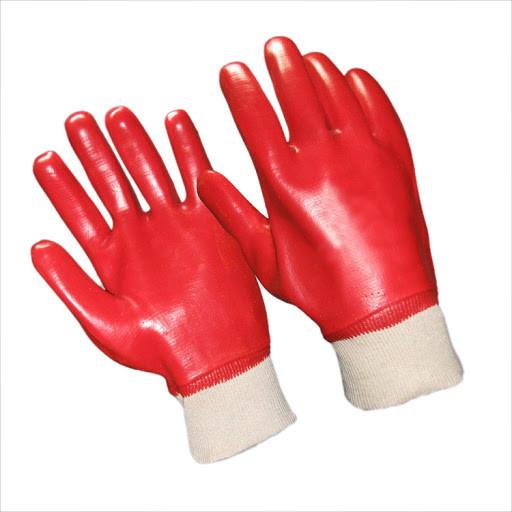 Перчатки рабочие из х/б ткани, облитые латексом