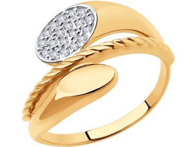 Золотое кольцо Diamant 51-110-00647-1_185