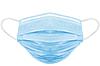 Маска для лица медицинская одноразовая голубая