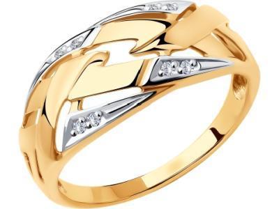 Золотое кольцо Diamant 51-110-00628-1_17