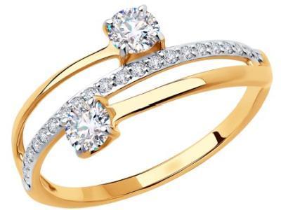 Золотое кольцо Diamant 51-110-00623-1_165