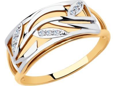 Золотое кольцо Diamant 51-110-00622-1_175