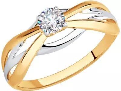Золотое кольцо Diamant 51-110-00614-1_17