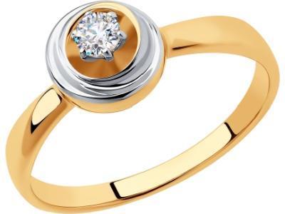 Золотое кольцо Diamant 51-110-00548-1_165