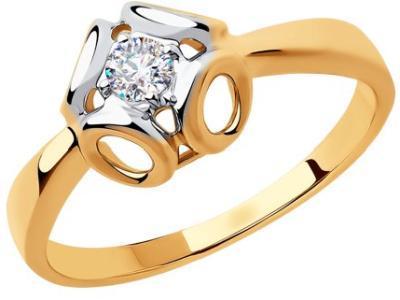 Золотое кольцо Diamant 51-110-00510-1_165
