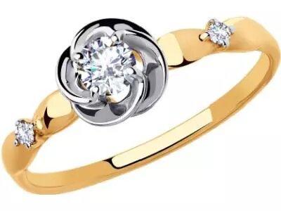 Золотое кольцо Diamant 51-110-00509-1_16