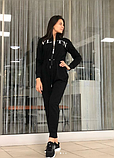 Женский спортивный костюм черный, фото 3