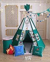 Детская палатка вигвам с ковриком и подушками, фото 1