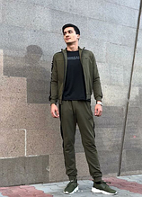 Мужской спортивный костюм хаки