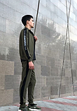 Мужской спортивный костюм хаки, фото 3