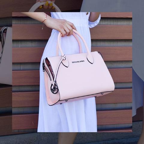 Женская сумка тоут розовая Michael Kors