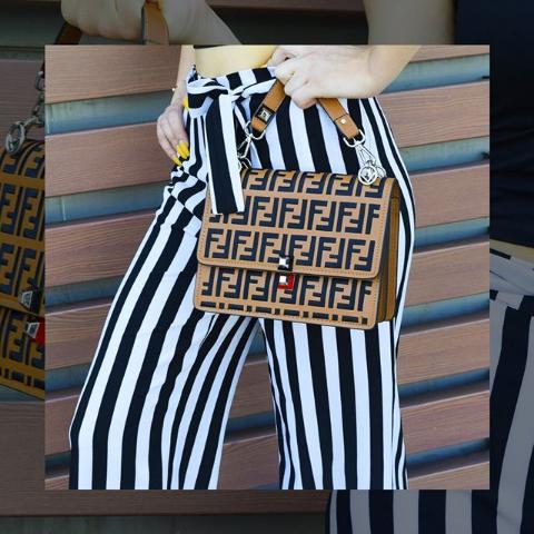 Женская сумка кросс-боди коричневая