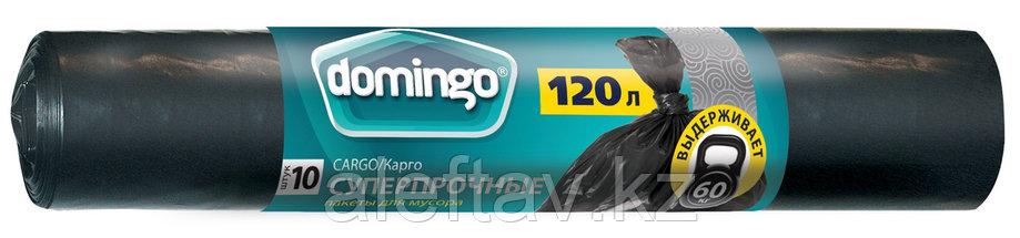 Пакеты для мусора 120 л черные, плотность 30 микрон в рулоне 10 штук, фото 2