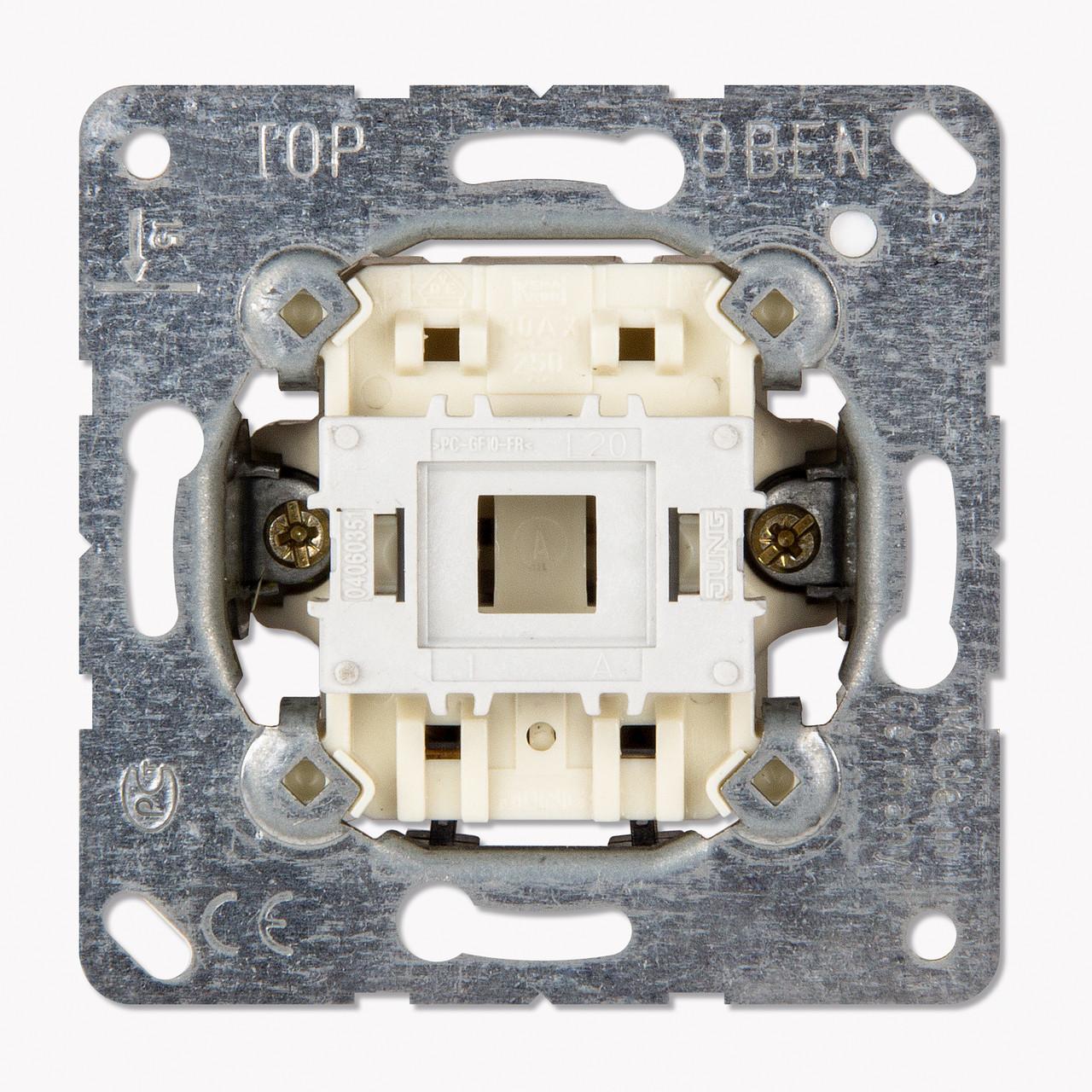 Кнопка 10AX 250V однополюсная с НО контактом