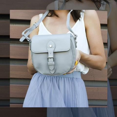 Женская сумка кросс-боди серая