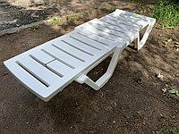Пластиковый шезлонг лежак пляжный для дома дачи сада