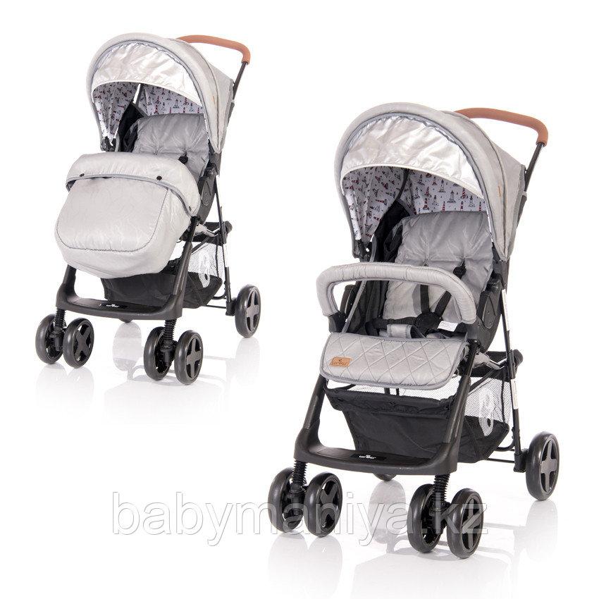 Прогулочная коляска Lorelli Terra + накидка на ножки Серый / Grey LIGHTHOUSE 2084