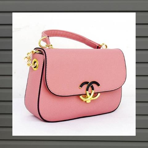 Женская сумка кросс-боди розовая
