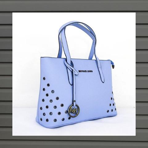 Женская сумка тоут голубая Michael Kors