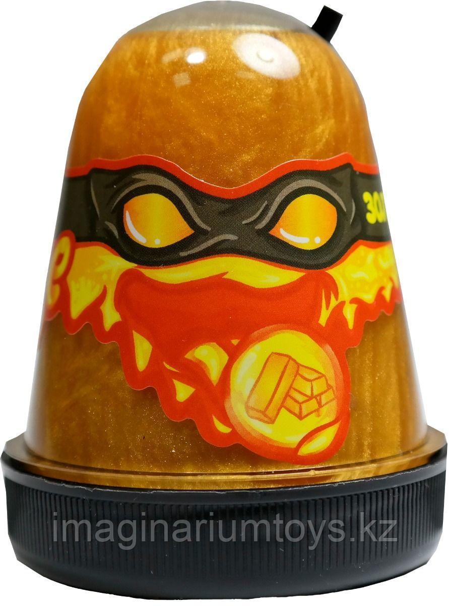 Слайм золотой магнитный Mega Slime Ninja 130 гр
