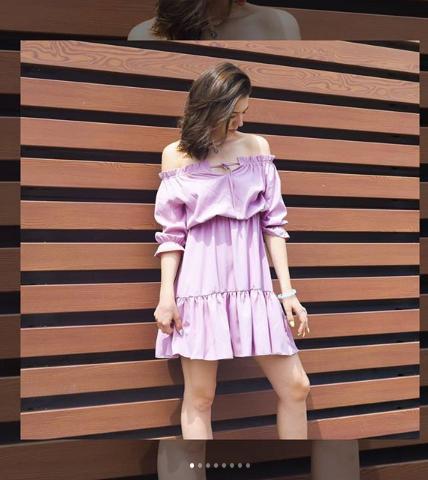 Платье розовое с открытыми плечами