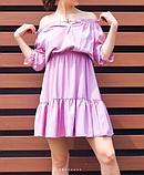 Платье розовое с открытыми плечами, фото 2