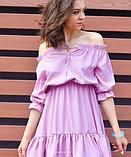 Платье розовое с открытыми плечами, фото 3