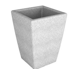 Кашпо Flox 68х50х50см белый гранит