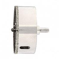 Сверло алмазное по керамограниту, 85 х 67 мм, трехгранный хвостовик Matrix, фото 1
