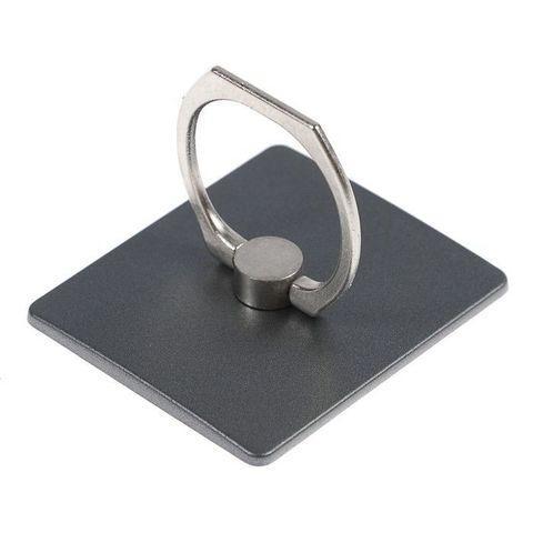 Подставка-держатель с кольцом для телефона на палец (Квадратная, черный)