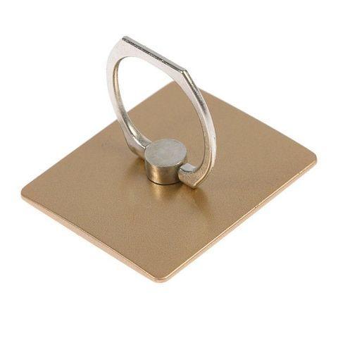 Подставка-держатель с кольцом для телефона на палец (Квадратная, золотистый)