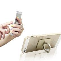 Подставка-держатель с кольцом для телефона на палец (Квадратная, золотистый), фото 2