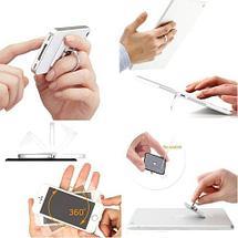 Подставка-держатель с кольцом для телефона на палец (Квадратная, золотистый), фото 3