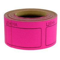 Набор из 6 роликов, в 1 ролике 200 штук, ценники самоклеящиеся, 35 х 50 мм, розовые
