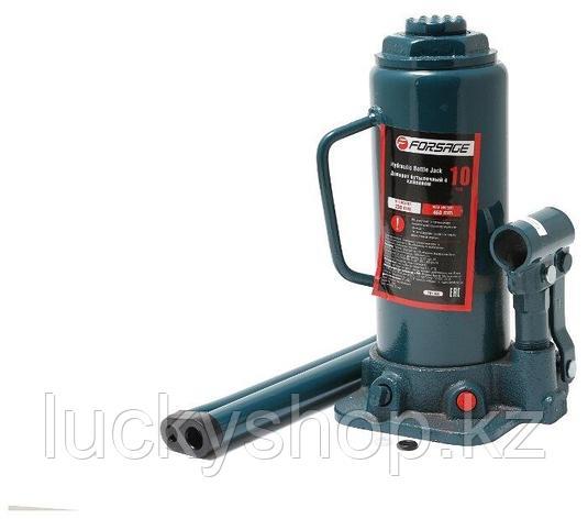 Домкрат бутылочный гидравлический Forsage F-T91004 (высота подъема 460 мм) (10 т), фото 2